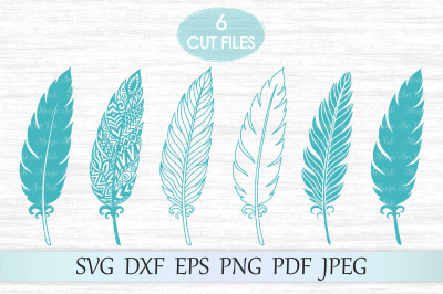 Feather svg, Zentangle feather svg, Feather mandala svg, Feathers