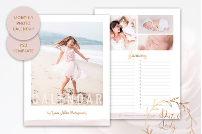 PSD Photo Birthday Calendar #1