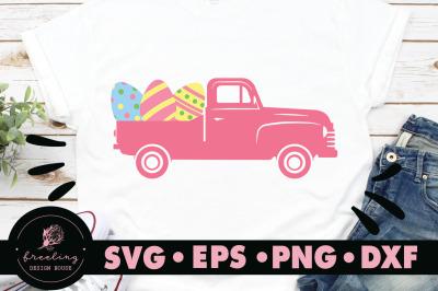 Pink Easter Truck SVG