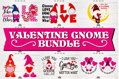 Love - Valentine GNOME Bundle Svg Design