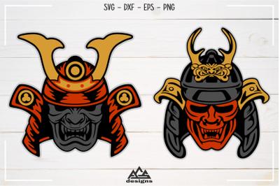 Japanese Shogun Samurai Mask Svg Design