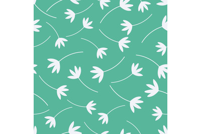 White flowersseamless repeating pattern