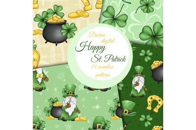 St. Patrick gnomes patterns