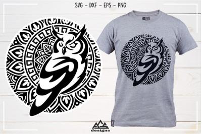 Owl Mandala Art Svg Design