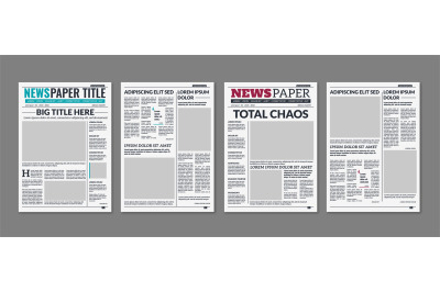 Newspaper column. Printed sheet of news paper with article text and he