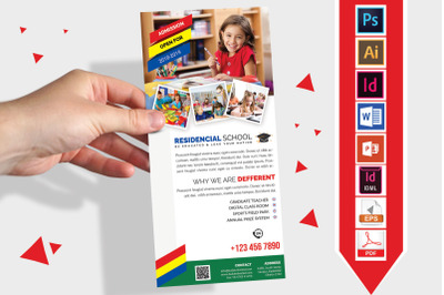 Rack Card   School DL Flyer Vol-01