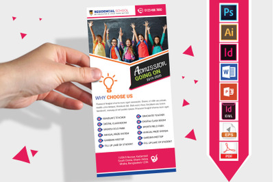 Rack Card   School DL Flyer Vol-03