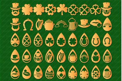 St PAtrick Earrings SVG, Earring SVG,   St PAtrick Pendant.