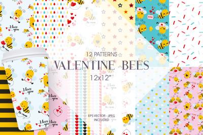 Valentine Bees Paper