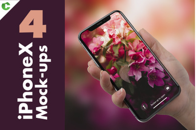 4 iPhone X - XS - 11pro Mock-up