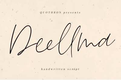 Deellma - Script font