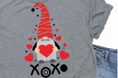 Happy valentines day quote svg,xoxo svg,xoxo,gnome xoxo