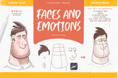Faces & Emotions Procreate Brush