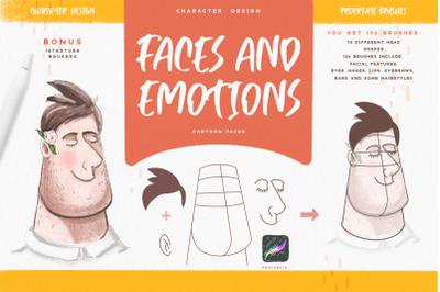 Faces & Emotions Procreate Brush