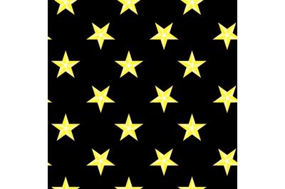 Seamless pattern bright stars night sky