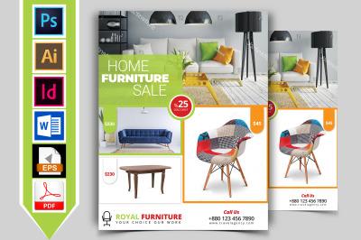Furniture Shop Flyer Template Vol-01