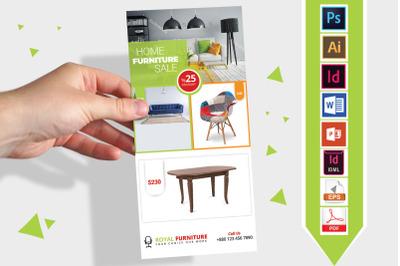 Rack Card   Furniture Shop DL Flyer- 01