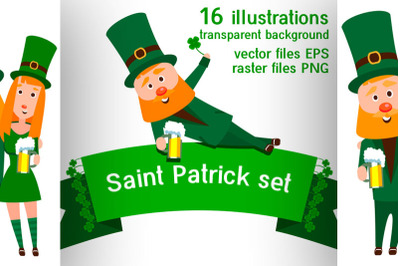 Set for the design of the holiday of St. Patrick