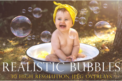 Realistic soap bubble overlays