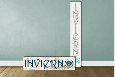 Invierno Winter Porch Sign | SVG | PNG | DXF