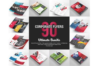 90 Corporate Flyers Bundle