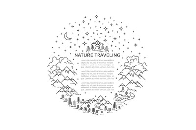 Travel nature template