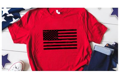 Distress american flag black svg for america tshirt