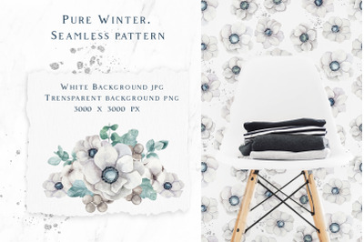 Pure winter. Seamless pattern