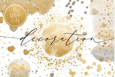 Confetti Overlay & Decoration Clipart Set