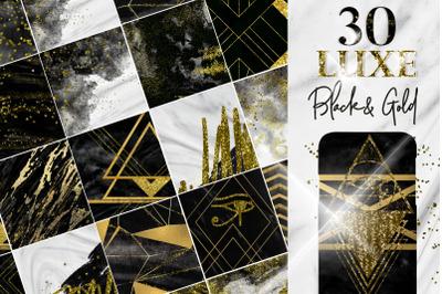 Black gold Digital paper