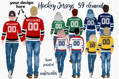 Hockey jerseys, jersey clipart, Couples in jersey, BFF