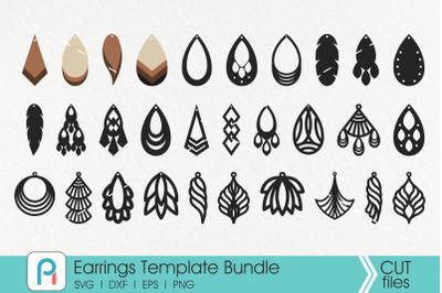 Earrings Svg, Earrings Template Svg, Faux Leather Earrings Svg