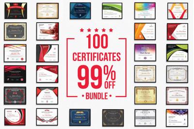 100 Certificate Bundle
