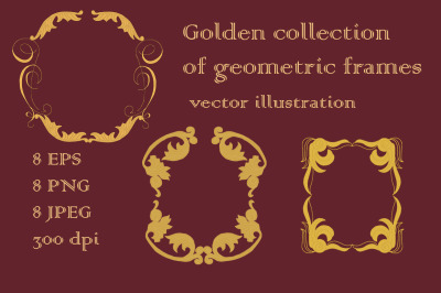 Golden collection of geometric frames