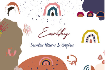 """Earthy"" - Seamless Patterns & Graphics"