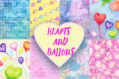 Hearts and Ballons Patterns