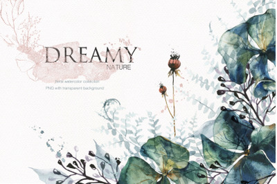 Dreamy Nature - floral watercolor art collection