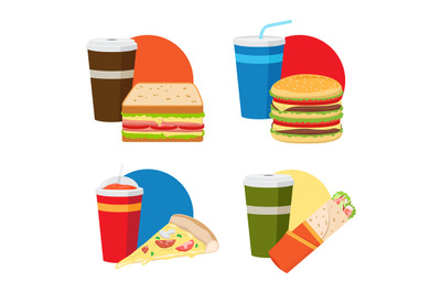 Fast food lunch set
