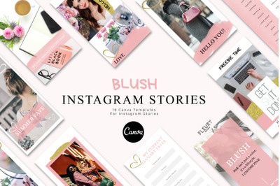 BLUSH - Instagram Story Templates for Canva