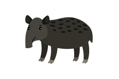 Tapir cartoon icon