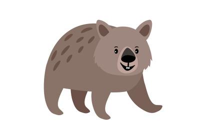 Wombat cute animal icon