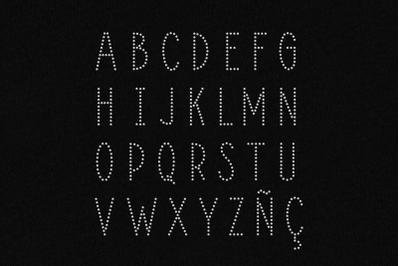 Rhinestone Deco Alphabet | SVG | PNG | DXF