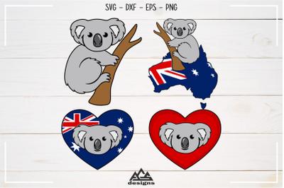 Cute Koala Australia Svg Design