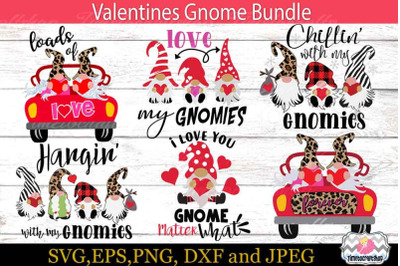 Valentine Gnome Bundle, 3 Gnomes Holding Hearts, Hangin with My Gnomie