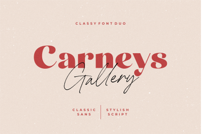 Carneys Gallery Font Duo