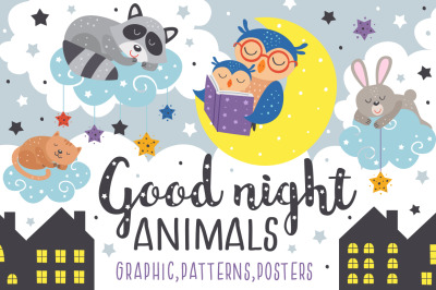 Good night Sleeping animals
