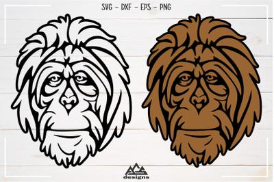 Orang Utan Primata Svg Design