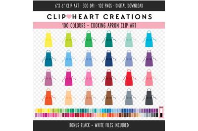 Cooking Apron Clip Art - 100 Clip Art Graphics