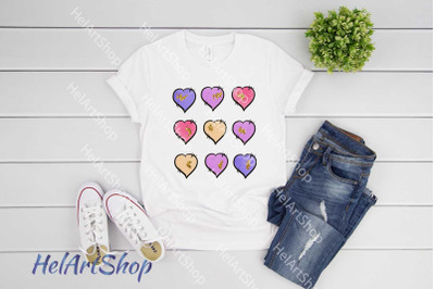 Love Hearts sublimation png, Valentines day
