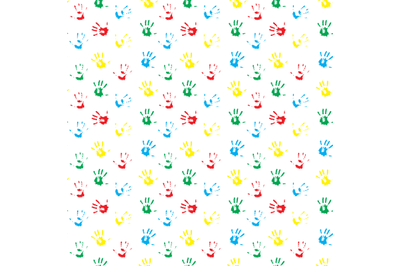 Pattern hand print colored